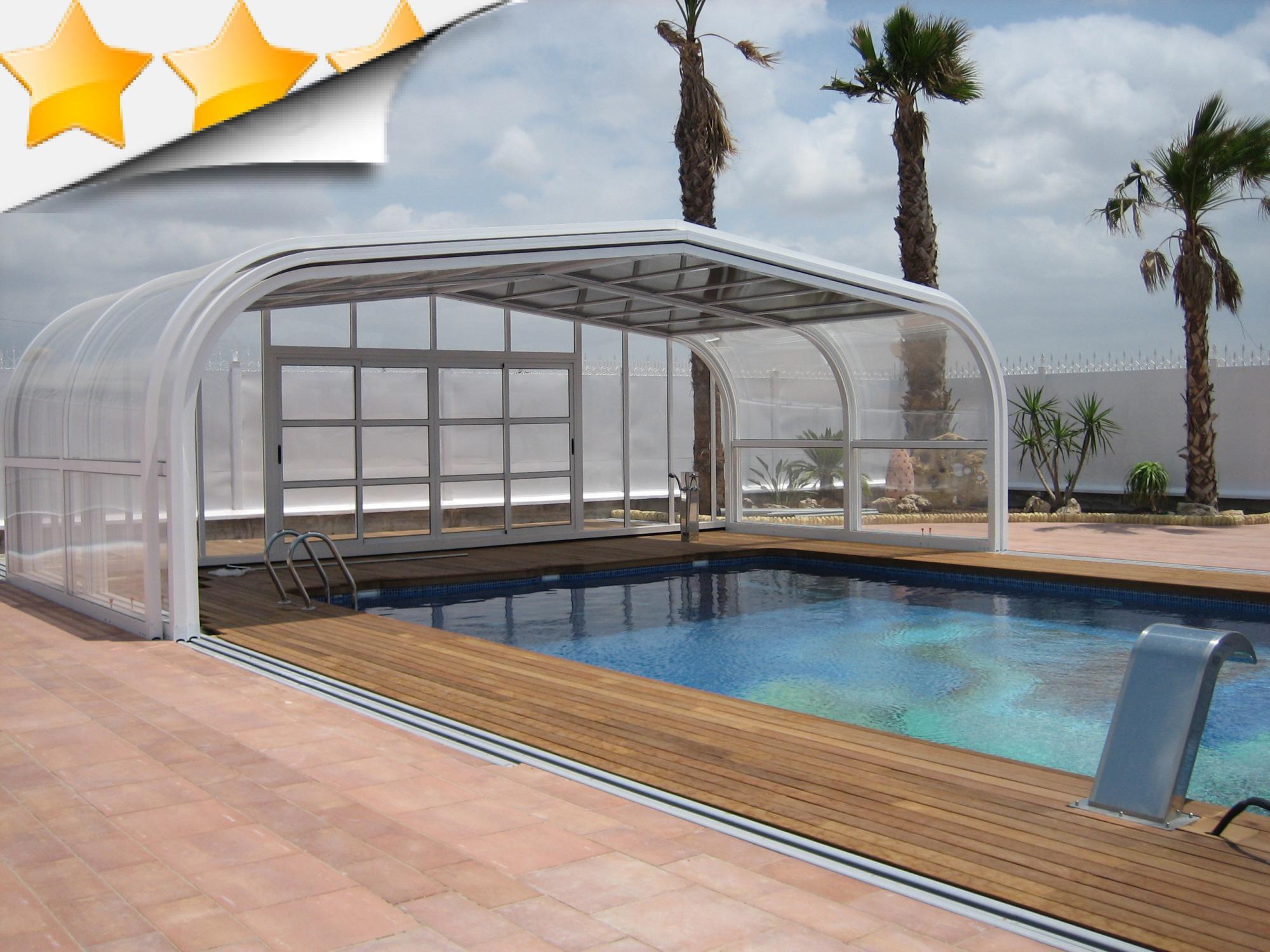 Nos abris aluminium haut apc france for Abri piscine telescopique