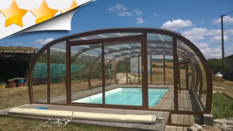 Abri piscine sur terrasse bois abris par apc - Piscine aqualude montbrison ...