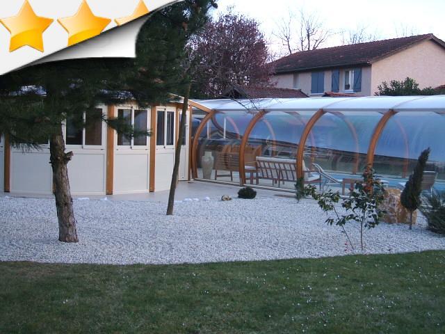 Abri piscine adoss maison cliquez abri adoss en bois vernis gris 800m wandlitz 5 karibu gazbo - Abri piscine adosse maison nanterre ...