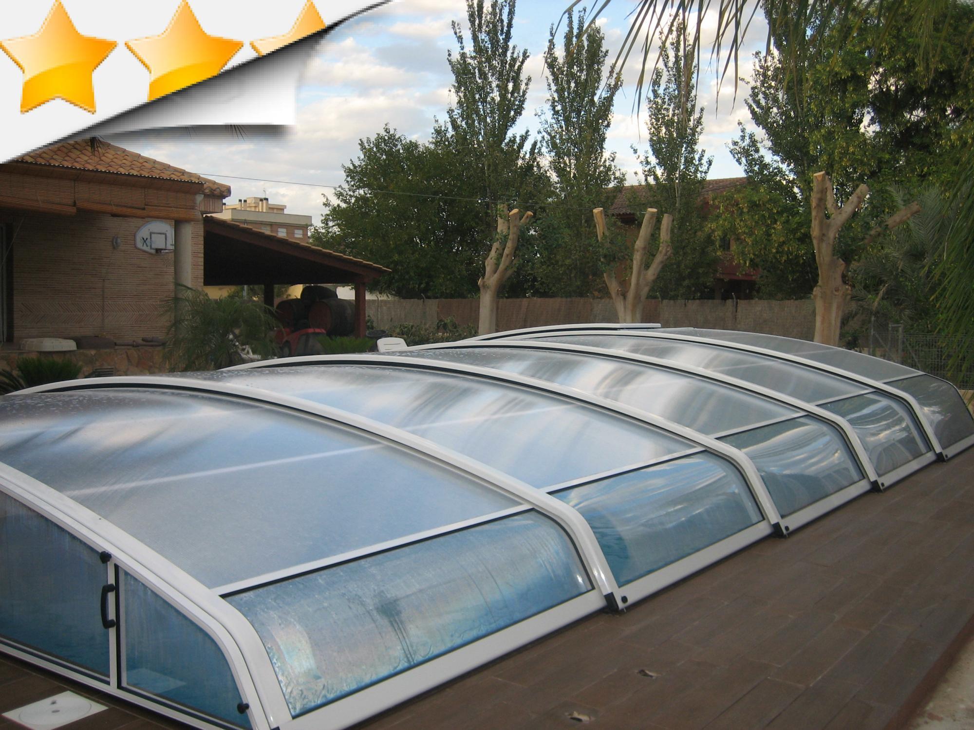 Nos abris aluminium bas apc france for Abris bas piscine