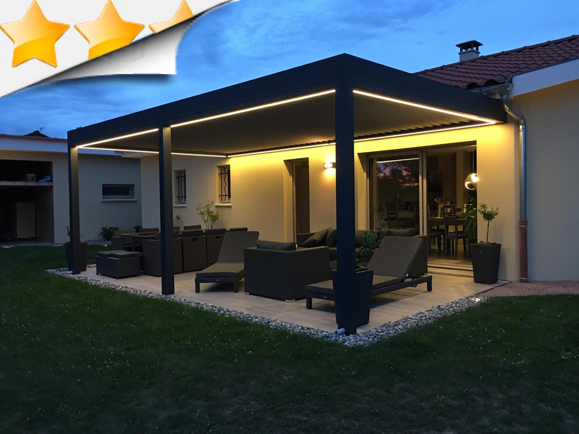 pergola avec clairage leds pergolas par apc. Black Bedroom Furniture Sets. Home Design Ideas
