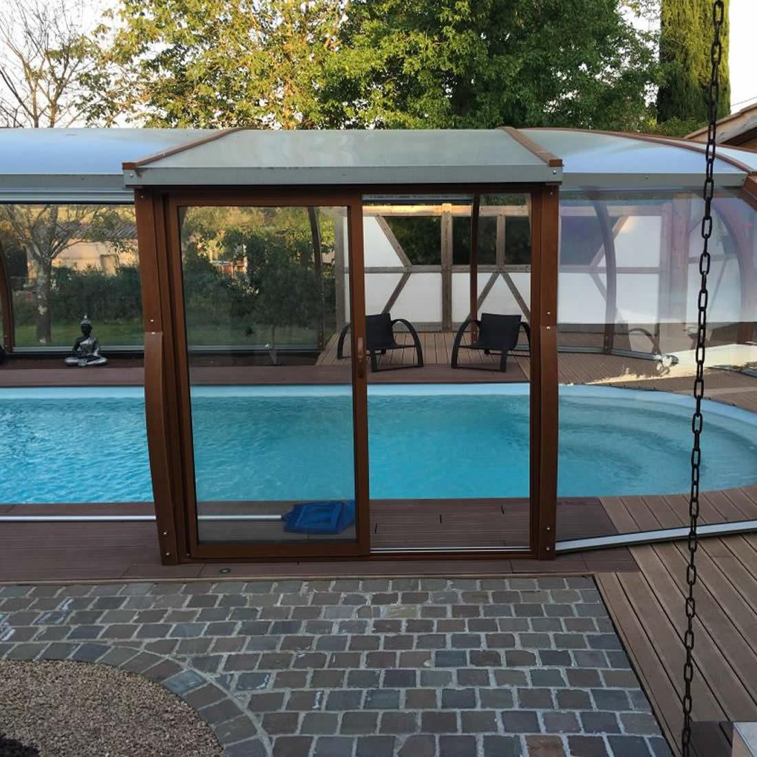 abri piscine avec rotonde abris bois par apc. Black Bedroom Furniture Sets. Home Design Ideas