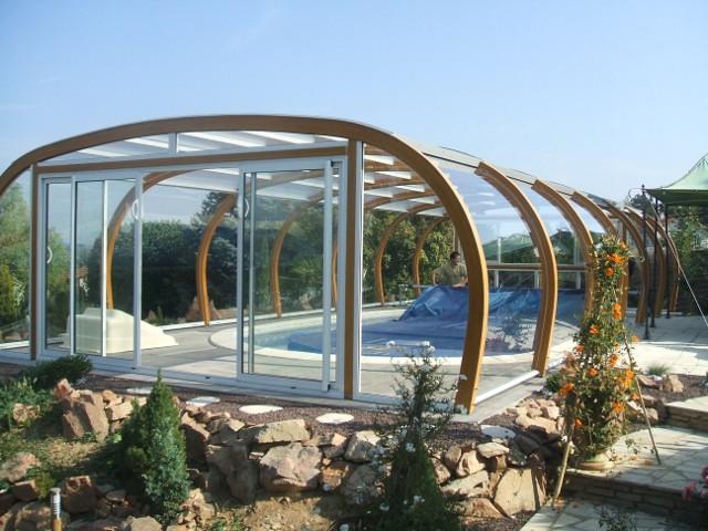 abri piscine bois abris bois prestance par apc. Black Bedroom Furniture Sets. Home Design Ideas